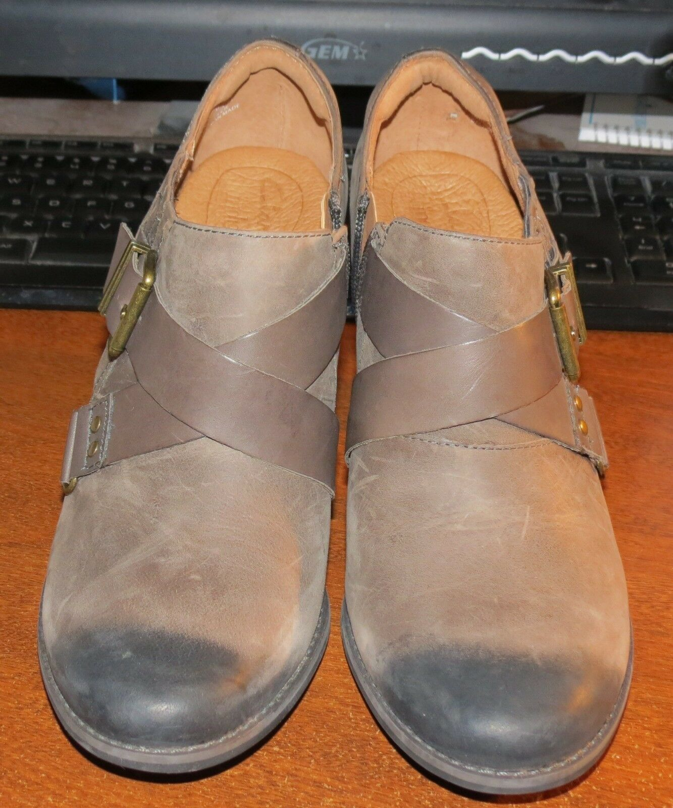 Clarks Indigo Heath Woodlark 10 M Strap Buckle Ankle bottes démarrageies NWOB