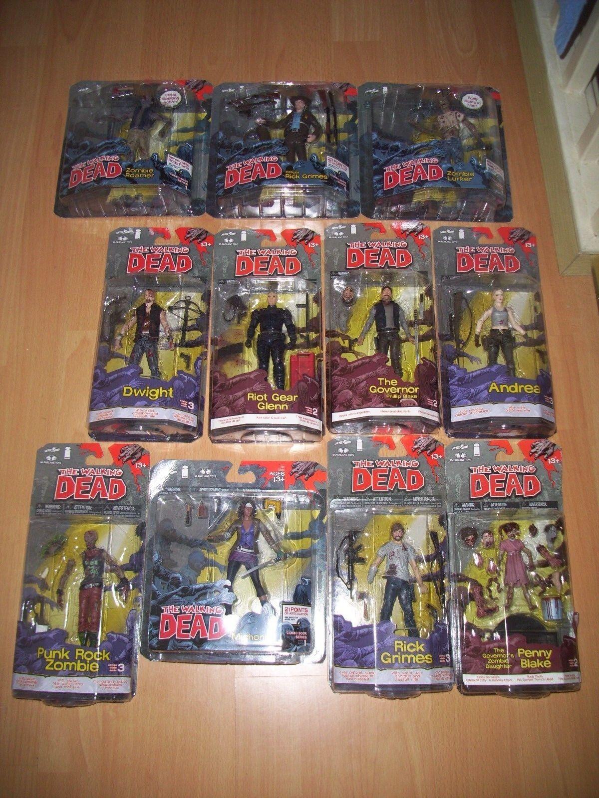 THE Walking dead fumetto Serie Figure. JOB LOTTO DI 11 CIFRE. ancora SIGILLATA