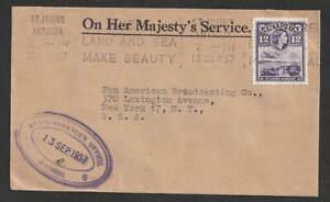 Antigua-St-Johns-1957-OHMS-Brief-nach-USA