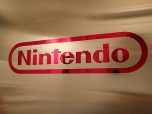 2-pack-NES-Nintendo-Vinyl-Sticker-Decal-Red-Chrome-4-034-inches-by-1-034-inches