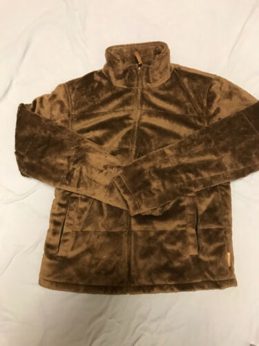 Columbia Womens Monkey Fur Fleece Brown Jacket Sma