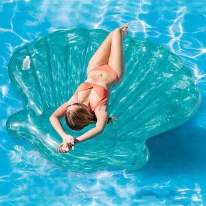 intex 191cm riese aufblasbar muschel insel schwimmend luft matratze strand liege ebay. Black Bedroom Furniture Sets. Home Design Ideas