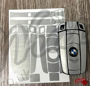 BLACK GLOSS Key Fob Wrap Cover Overlay BMW 1 3 5 6 Series Z4 X1 3 X5 X6 M