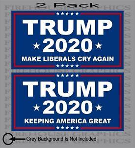 2-Pack-TRUMP-2020-MAGA-Republican-President-Keeping-America-Great-sticker-decal