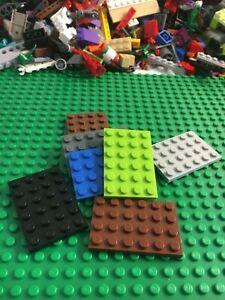 Lot-of-15-LEGO-Base-plates-thin-4x6-dot-base-plate