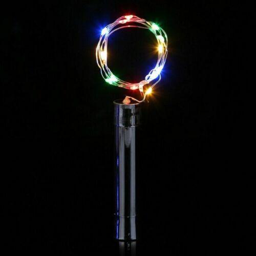 1-10Pcs 10 20 LED Warm Cool Wine Bottle Cork Shape Night Fairy Lamp String Light