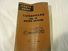 Cat Caterpillar No 14 Motor Grader Parts Book 1969