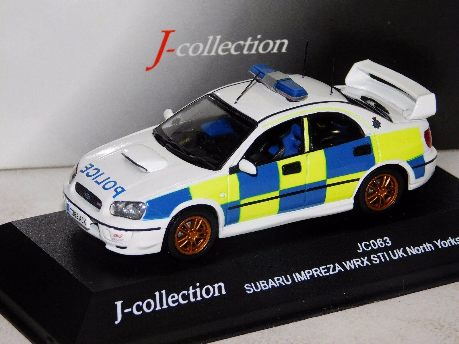 Subaru Impreza WRX STI North Yorkshire policía J Collection JC063 1 43