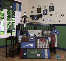 Baby Boutique Classic Sports GEENNY 13PCS Nursery CRIB BEDDING SET