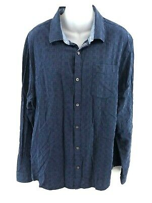 Realistisch Penguin Mens Shirt Xl Navy Blue White Check Cotton Exquisite (In) Verarbeitung