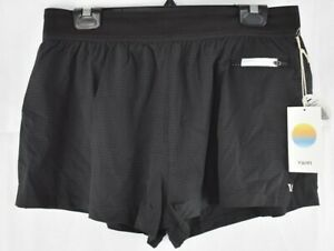 Vuori Womens Black Chase Performance Shorts Size Large