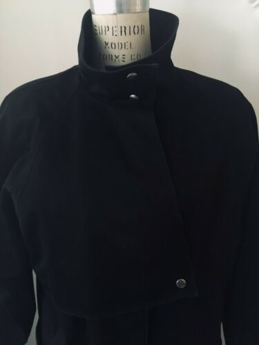 Full Trench Foder Coat Vintage Zip With out Length Braefair Black qvw1zEwI