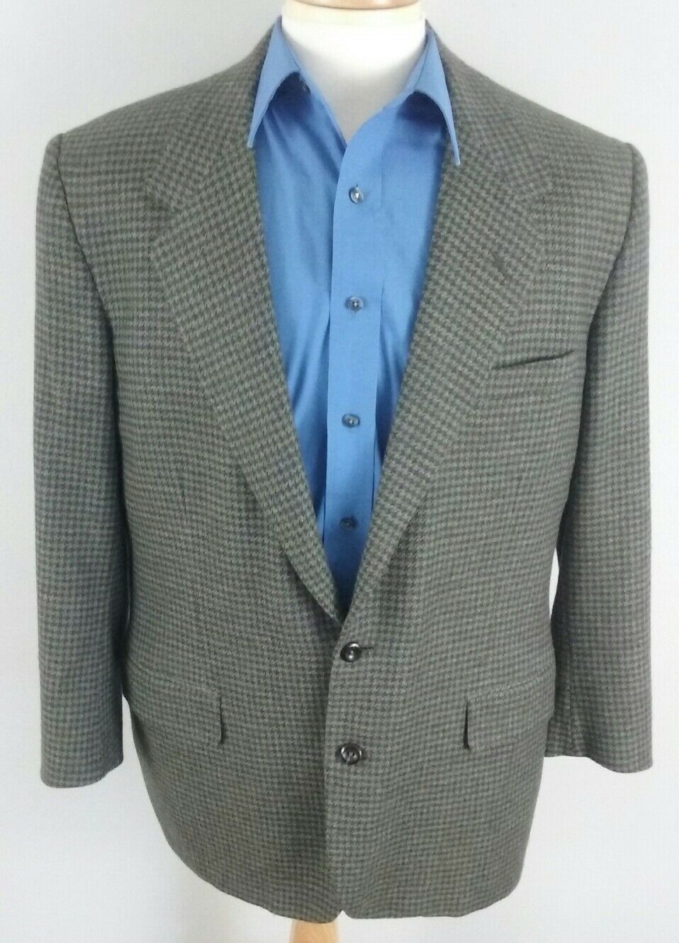 96c093169 Oxxford Clothes Herren 43R Houndstooth Sport Coat Laurent Two Button grau