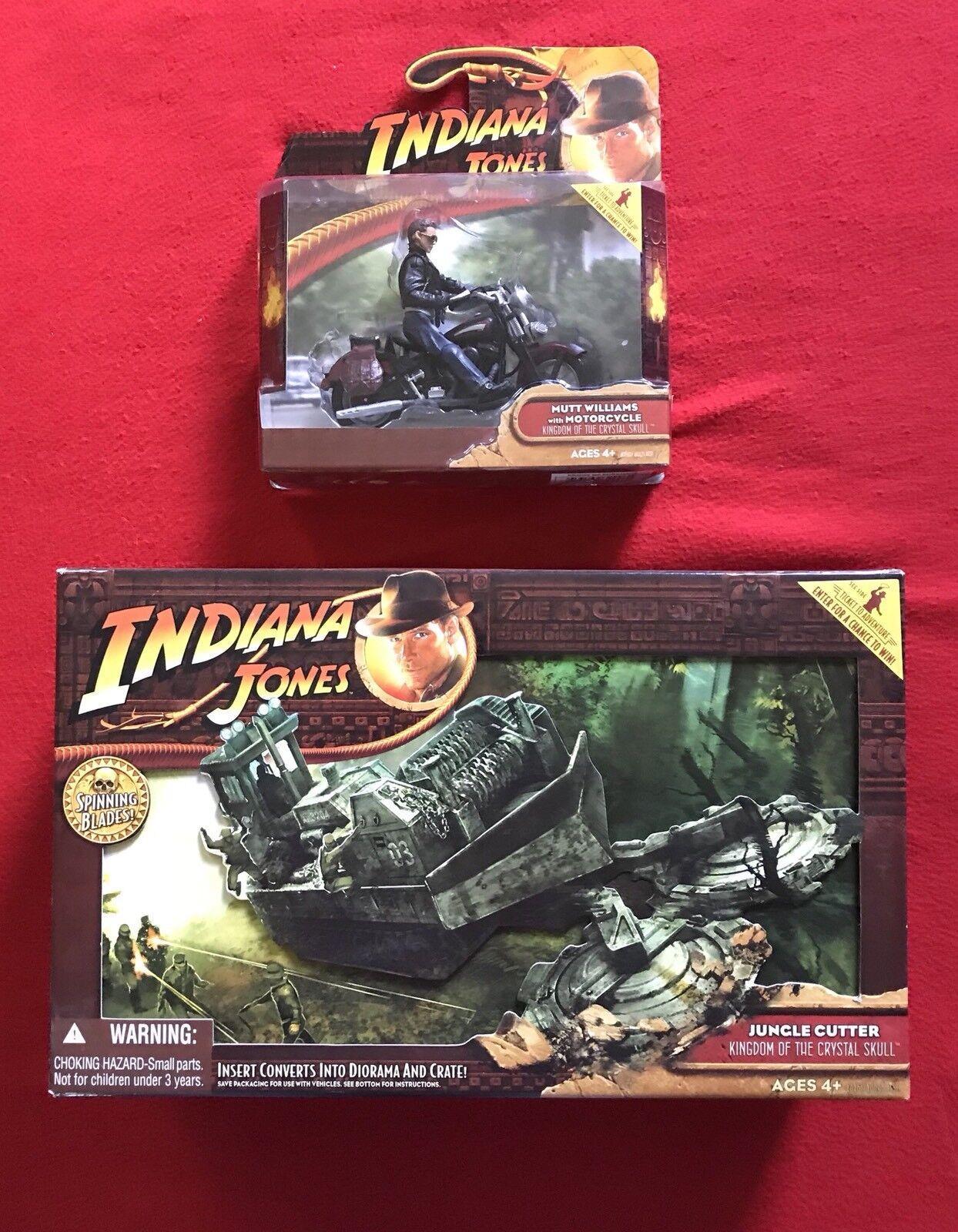 Indiana Jones Kingdom of The Crystal Skull Jungle Cutter & och Mutt Williams Motorcy