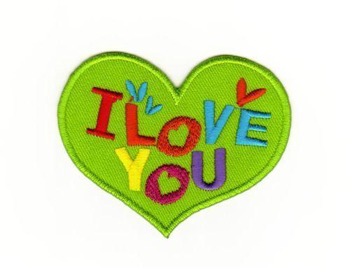 ag90 I Love You Herz Aufnäher Bügelbild Applikation Kinder Flicken Liebe DIY