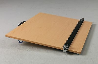 WOODGRAIN Portable Drafting Board Table & Straightedge   Drawing Artist Parallel
