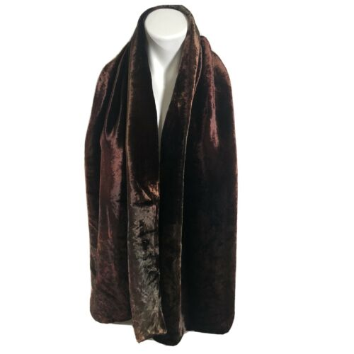 Richard Fischer Collection Velour Silk Scarf Brown