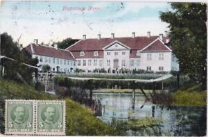 DANEMARK-old-postcard-HVERRINGE-FYEN-TO-PAU-YEAR-1911