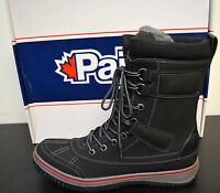 Pajar 1733 Mens Gash Black Leather Winter Snow Boots Size 8-8.5 Eur 41 Med
