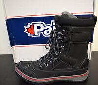 Pajar 1733 Mens Gash Black Leather Winter Snow Boots Size 8-8.5 Eur 41 Med