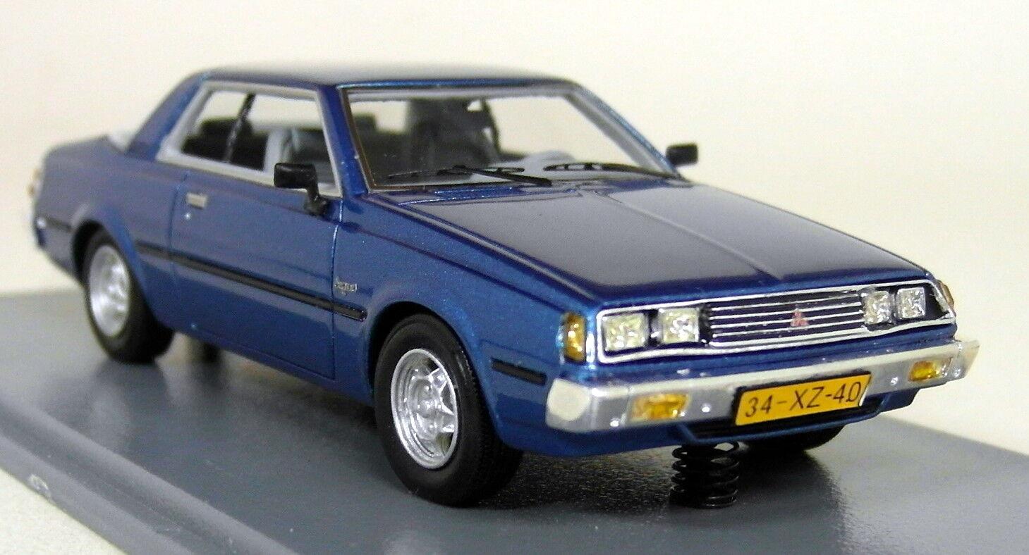 NEO 1 43 Scale - 43441 Mitsubishi Sappor coupé Mk1 1982 Bleu Résine Voiture Modèle