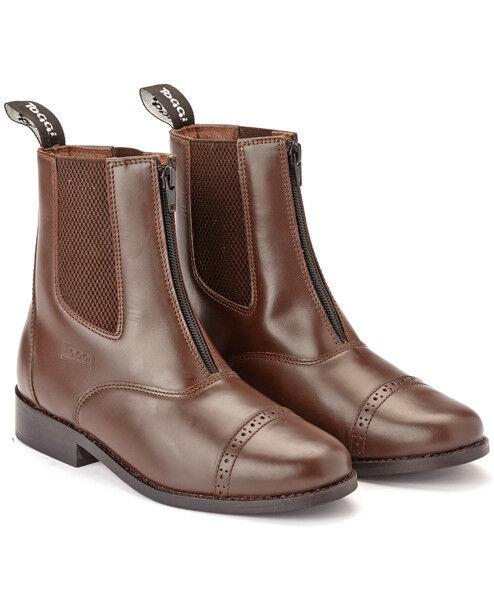 Toggi Augusta - Adults Zip Leder Jodhpur Stiefel - Braun All - All Braun Größes 07f2a3