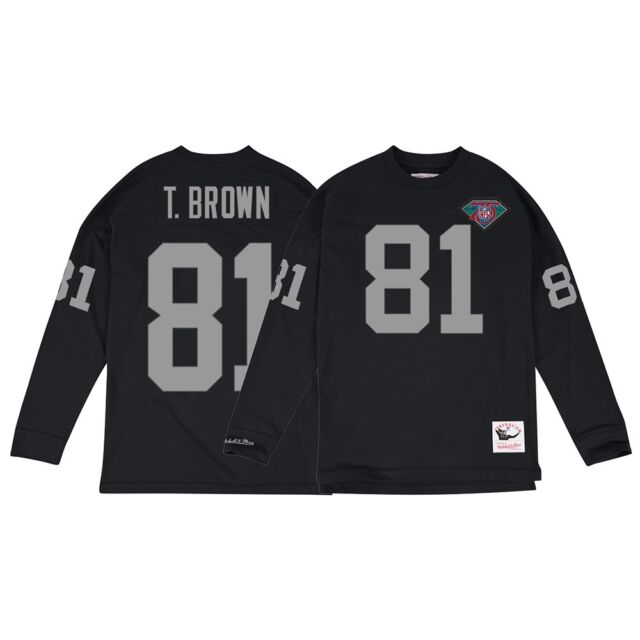 13829ae3e45 Tim Brown Los Angeles Raiders Mitchell   Ness Jersey Inspired Longsleeve  Knit