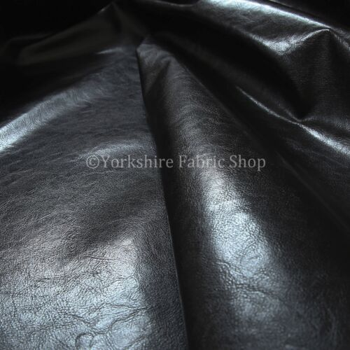 Black Vinyl Faux Leather Material Upholstery Fabric Strong Shiny