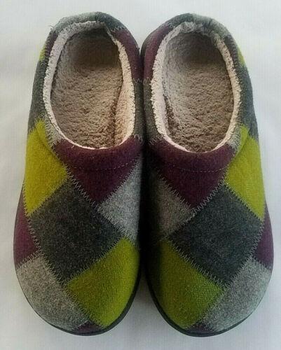 LL Bean Slipper Shoes Womens Size 8 Patchwork Clog