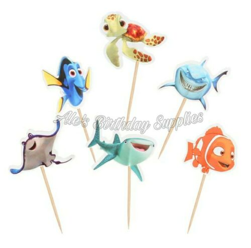 pcs Finding Nemo Dory Cupcake Toppers Birthday Party Supplies 24