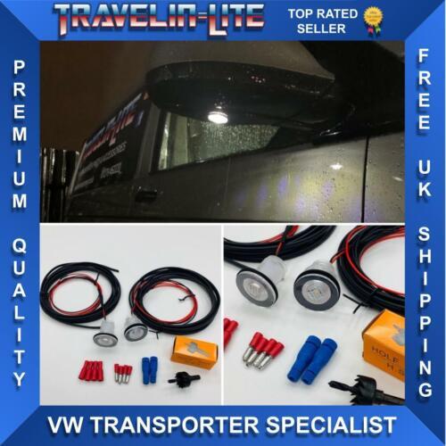 VW T5.1 T6 DEL miroir courtoisie Lumières Upgrade Kit Transporteur à partir de 2010