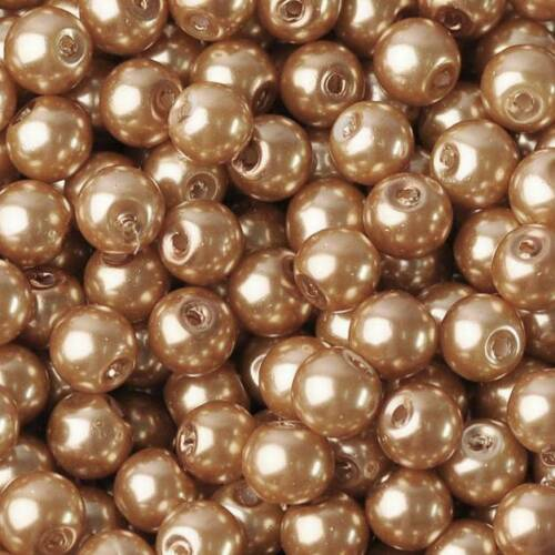 3mm~10mm Round Pearl Coated Opaque Glass Loose Beads For Jewelry Making Findings