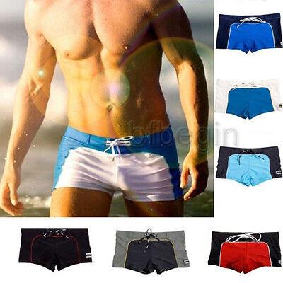 Men's Swimwear Trunks Sexy Sport Boxer Swim Suit Short Beach Swimming Brief Pant