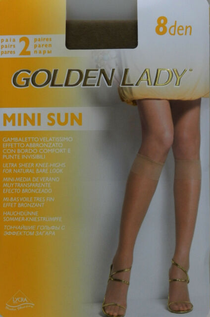 10 Pares mini-media verano muy transparente efecto bronceado Golden Lady GOBI