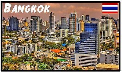 Blue Bangkok Thailand Thai Travel Cool Gift #5759 Awesome Fridge Magnet