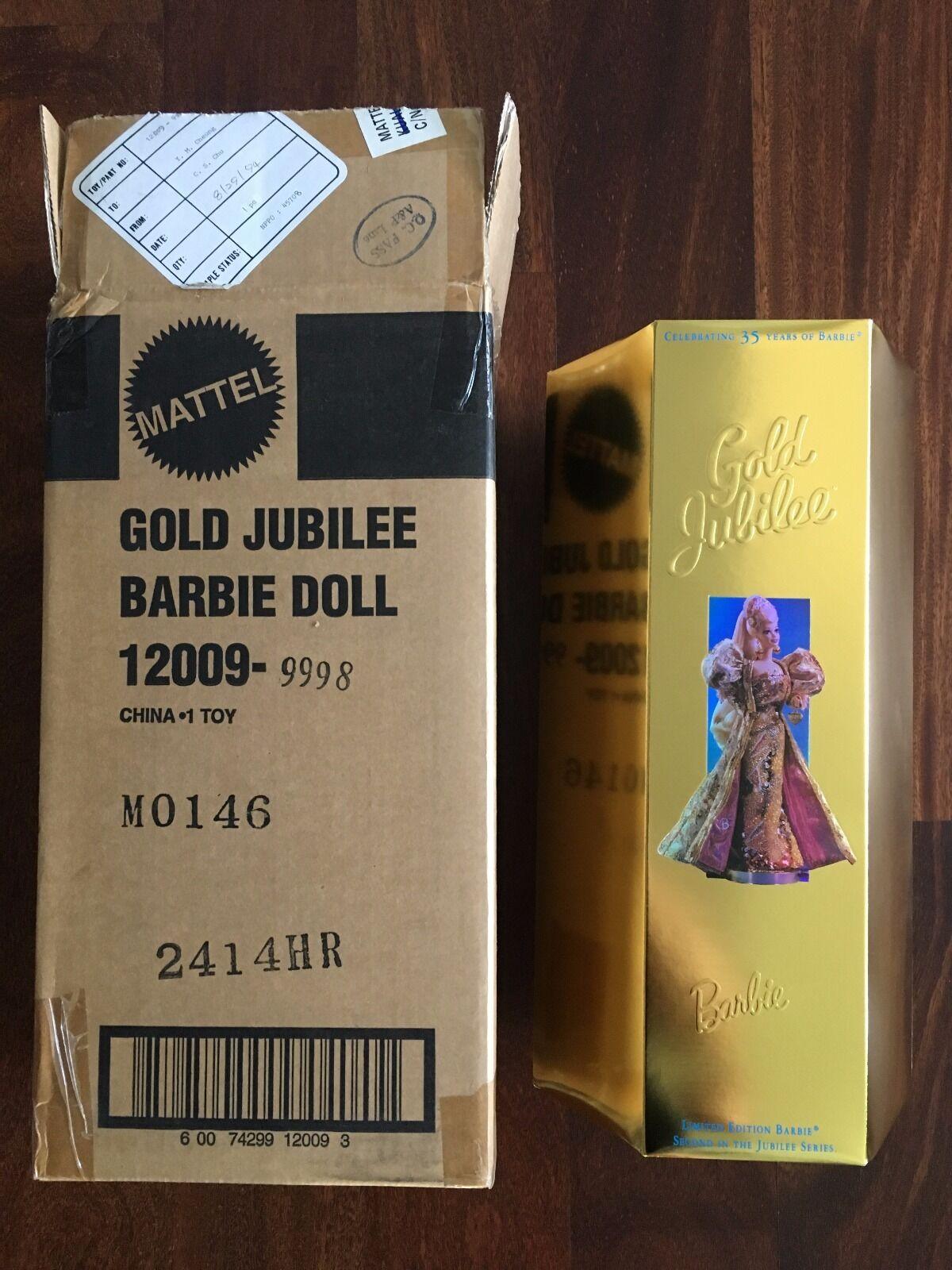 Serie M Jubileo De Barbie Rara De oro  M0146 de 300 nunca quitado de la caja