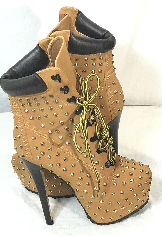 Bella Luna Women's Jaylo-01 Studded Stiletto Heels Size 8.5
