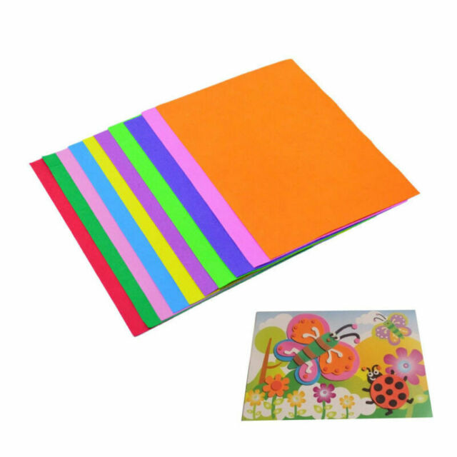 Hot 10Pc Thick A4 Sponge EVA Foam Paper Sheets Kids Handmade DIY Craft US