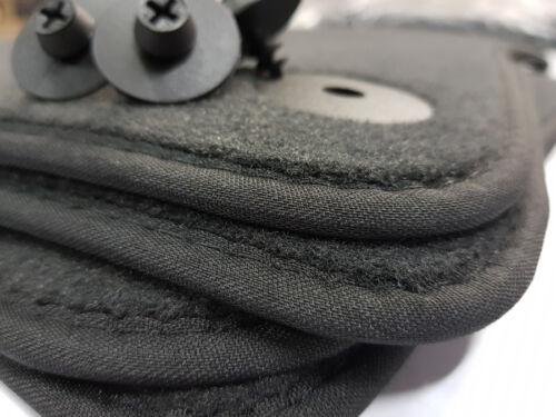 Nuevo tapices Opel Meriva B calidad original gamuza alfombrillas coche negro atornilla