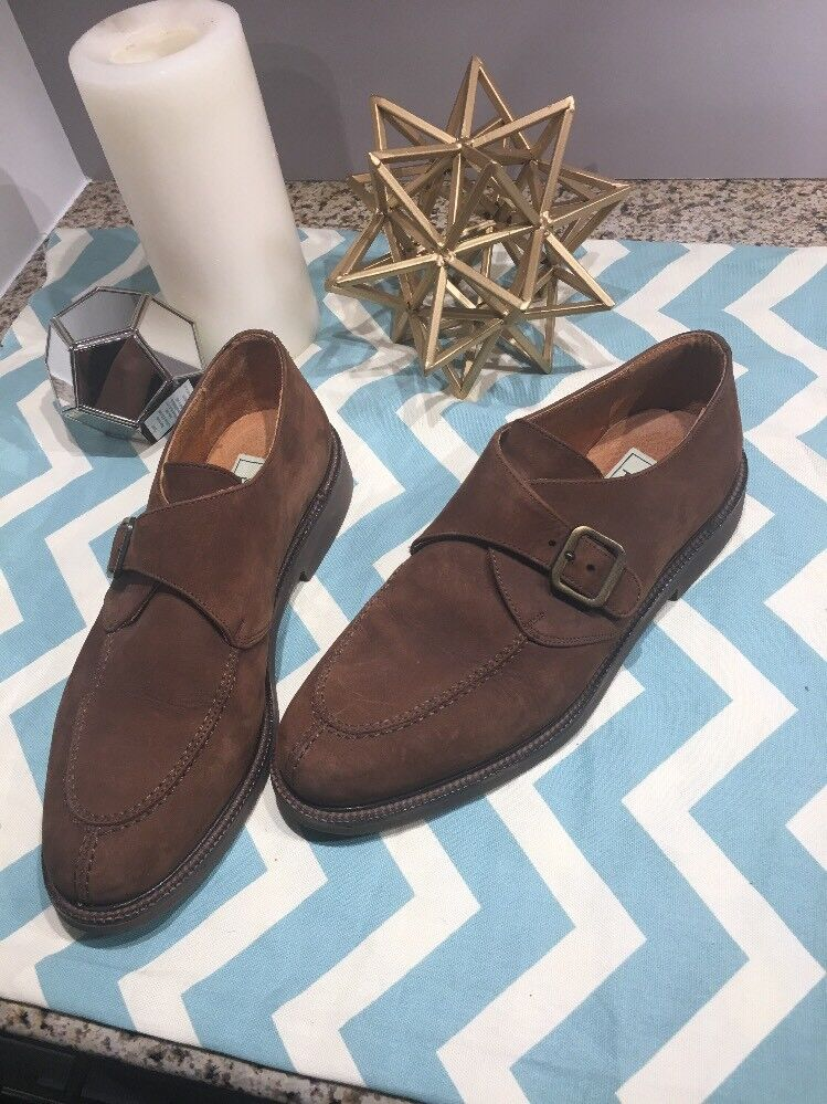 Scarpe casual da uomo Tosi Monk Strap  9.5 M Brown tan nubuck/calf leather