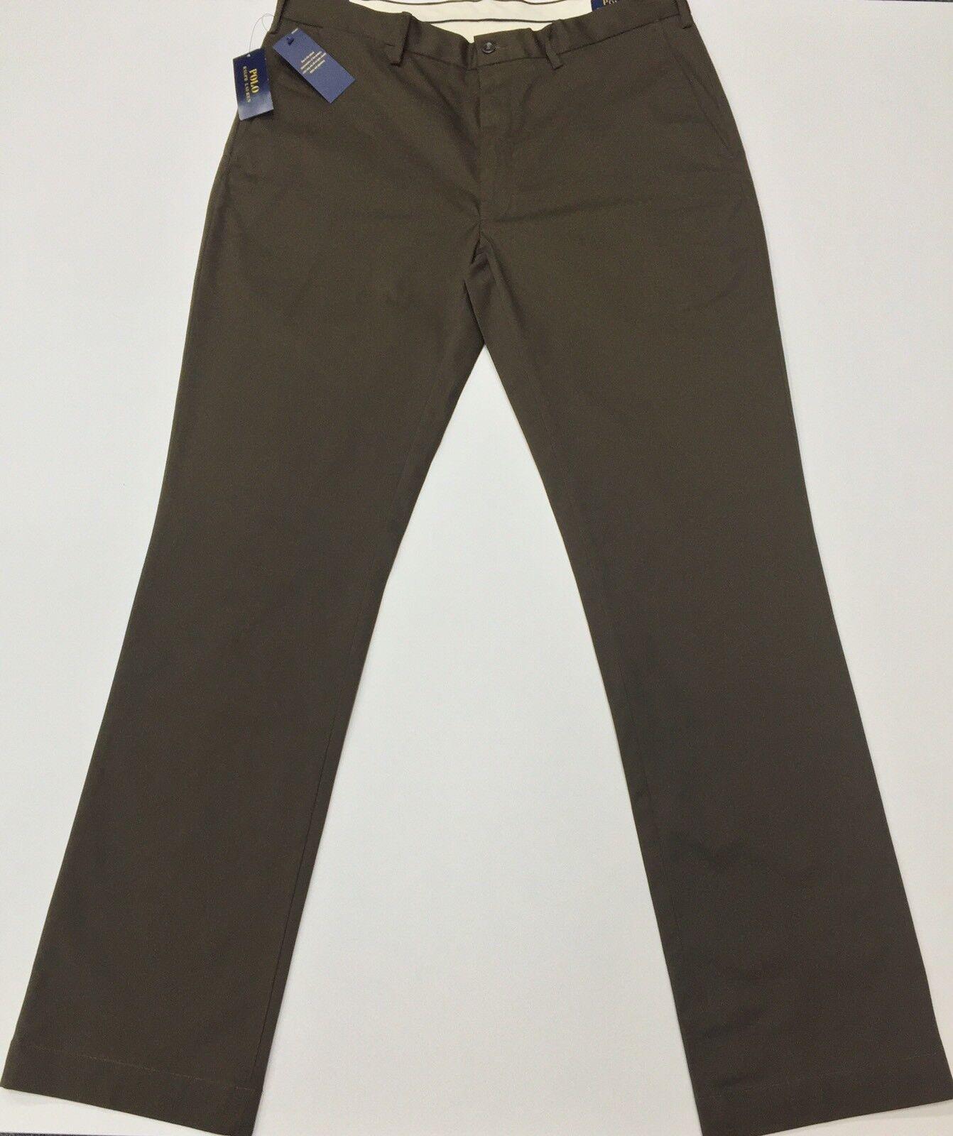 Ralph Lauren Men's chino Stretch Classic Fit Vintage braun Größe 36T 36L