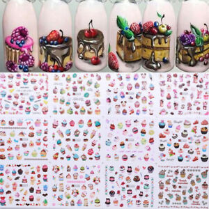 Details about Summer Ice Creams Fruit Nail Art Water Decals Transfer  Stickers Decor