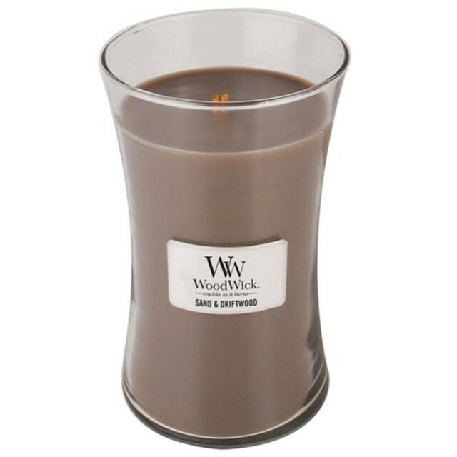 WoodWick Candle, Sand and Driftwood, Large New