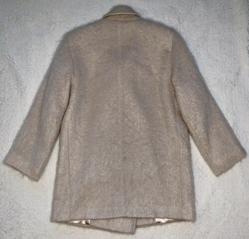 Uld Richards Marvin Beige Percy J Peacoatjakke 6 Mohair Dobbelt Sz WMS Breast ST1wOBw