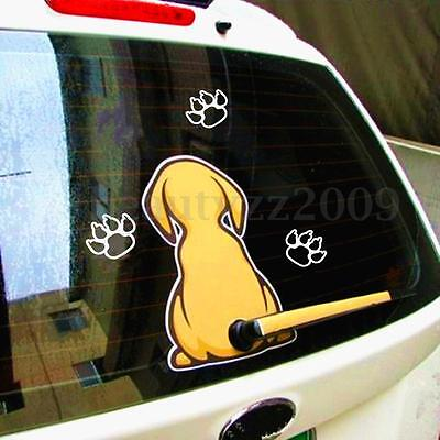 Funny Dog Cat Sticker with a Wagging 28.5cm Tail Fun Sticker Decal for Car Wiper