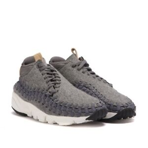 c7d26690cae1 Nike Air Footscape Woven Chukka SE sz 9 Wool Grey Sail Vachetta Tan ...
