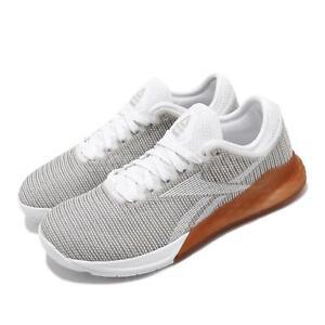 Reebok-Nano-9-White-Grey-Gum-Women-CrossFit-Training-Shoes-Gym-Sneakers-DV6363