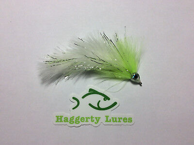 Blue /& White Marabou Game Changer Articulated Streamer Fly