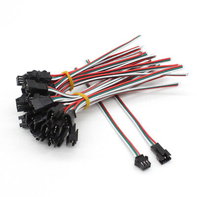 2//3//4//5PIN JST Male /& Female Connector Cable for WS2811 RGB//W Led Strip Light