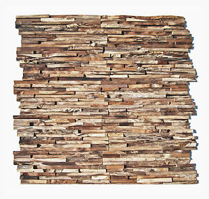 1 Modul Ho 006 Teakholz Wand Design Verblender Holz Fliesen Lager